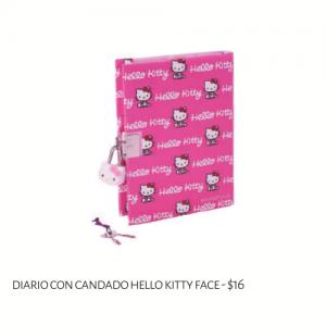 Diario con Candado Hello Kitty Face