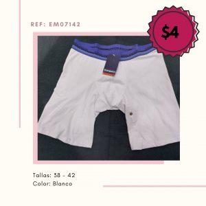 Boxer de Caballero Blanco Talla 38 – 42